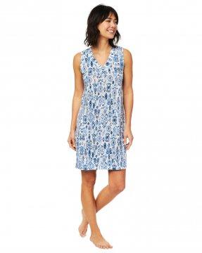 The Cat's Pajamas Women's Ikat Pima Knit Nightgown