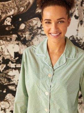 The Cat's Pajamas Women's Kelly Check Luxe Pima Classic Pajama Set