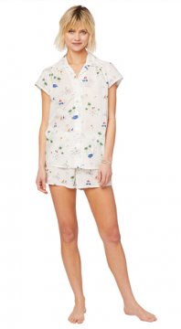 The Cat's Pajamas Women's La Mer Luxe Pima Shorts Set