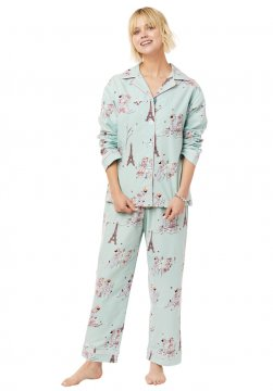 The Cat's Pajamas Women's L'amour Classic Flannel Pajama Set