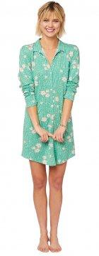 The Cat's Pajamas Women's Lazy Daisy Pima Knit Nightshirt