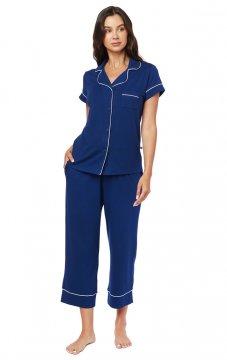 The Cat's Pajamas Women's Marine Moment Pima Knit Capri Pajama Set