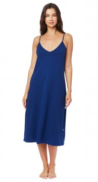 The Cat's Pajamas Women's Marine Blue Pima Knit Chemise