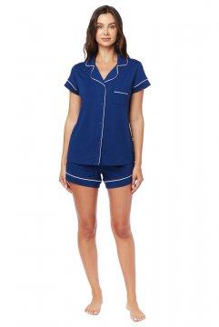 The Cat's Pajamas Women's Marine Moment Pima Knit Shorts Set