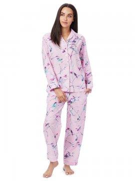 The Cat's Pajamas Women's Meadowlark Luxe Pima Classic Pajama Set in Pink
