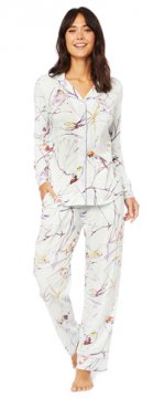 The Cat's Pajamas Women's Meadowlark Pima Knit Classic Pajama Set