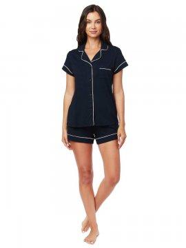 The Cat's Pajamas Women's Midnight Moment Pima Knit Shorts Set