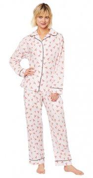 The Cat's Pajamas Women's Mister Lobster Luxe Pima Classic Pajama Set