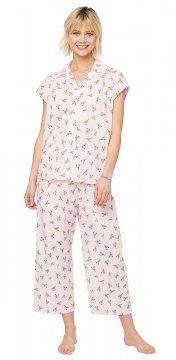The Cat's Pajamas Women's Mister Lobster Luxe Pima Capri Pajama Set