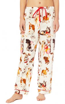 The Cat's Pajamas Women's Party Pups Flannel Pajama Pant