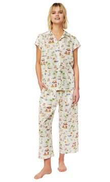 The Cat's Pajamas Women's Paradise Cove Luxe Pima Capri Pajama Set