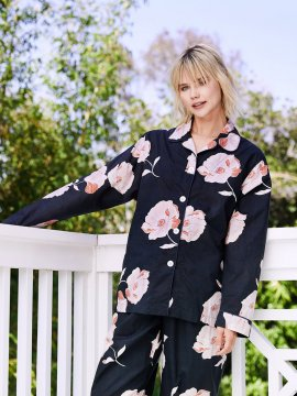 The Cat's Pajamas Women's Penelope Luxe Pima Classic Pajama Set