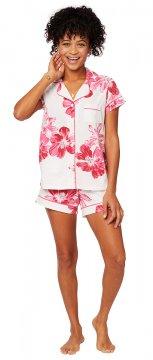 The Cat's Pajamas Women's Pink Bora Bora Pima Knit Short Set