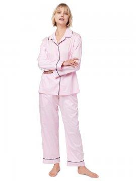 The Cat's Pajamas Women's Classic Pink Luxe Pima Pajama Set