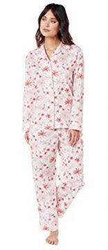 The Cat's Pajamas Women's Pink Flamingo Luxe Pima Classic Pajama Set