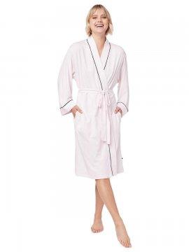 The Cat's Pajamas Women's Pink Moment Pima Knit Kimono  Robe