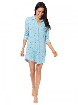 The Cat's Pajamas Women's Positano Pima Knit Classic Nightshirt