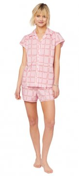 The Cat's Pajamas Women's Pretty in Pink Luxe Pima Short Set