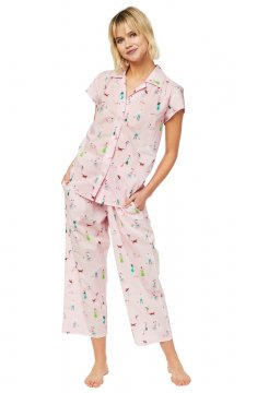 The Cat's Pajamas Women's Promenade Luxe Pima Capri Pajama Set