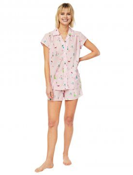 The Cat's Pajamas Women's Promenade Luxe Pima Shorts Set