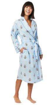 The Cat's Pajamas Women's Queen Bee Luxe Pima Shawl Collar Robe