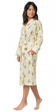 The Cat's Pajamas Women's Queen Bee Poplin Cotton Robe