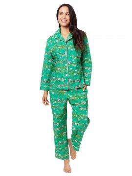 The Cat's Pajamas Women's Sakura Luxe Pima Classic Pajama Set