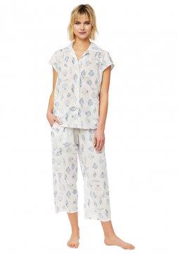 The Cat's Pajamas Women's Sanibel Island Luxe Pima Capri Pajama Set