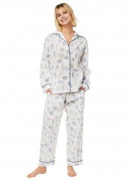 The Cat's Pajamas Women's Sanibel Island Luxe Pima Classic Pajama Set