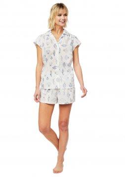 The Cat's Pajamas Women's Sanibel Island Luxe Pima Shorts Set