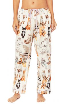 The Cat's Pajamas Women's Saucy Cat Flannel Pajama Pant