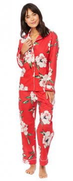 The Cat's Pajamas Women's Savannah Luxe Pima Cotton Classic Pajama Set