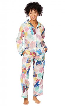 The Cat's Pajamas Women's Seychelles Luxe Pima Classic Pajama Set
