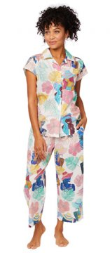 The Cat's Pajamas Women's Seychelles Luxe Pima Capri Set
