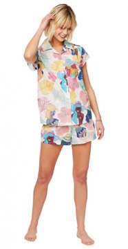 The Cat's Pajamas Women's Seychelles Luxe Pima Shorts Set