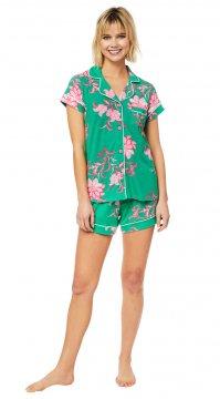 The Cat's Pajamas Women's Ava Pima Knit Shorts Set