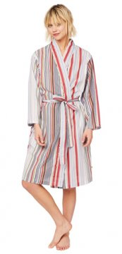 The Cat's Pajamas Women's Silver Lake Luxe Pima Robe