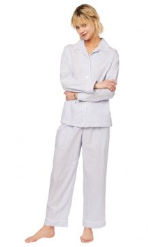The Cat's Pajamas Women's Simple Stripe Luxe Pima Classic Pajama Set
