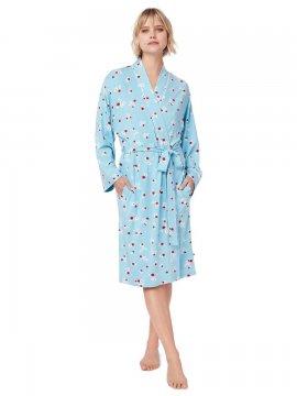 The Cat's Pajamas Women's Skye Pima Knit Kimono Robe