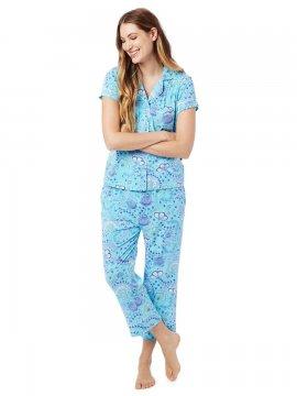 The Cat's Pajamas Women's Stella Pima Knit Capri Pajama Set