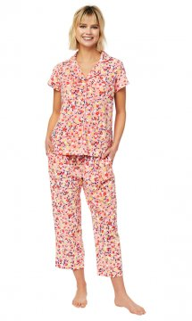 The Cat's Pajamas Women's Sunday Pima Knit Capri Pajama Set