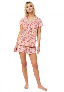 The Cat's Pajamas Women's Sunday Pima Knit Shorts Set