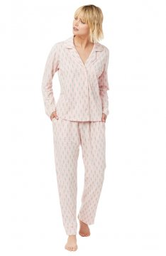 The Cat's Pajamas Women's Taos Pima Knit Classic Pajama Set
