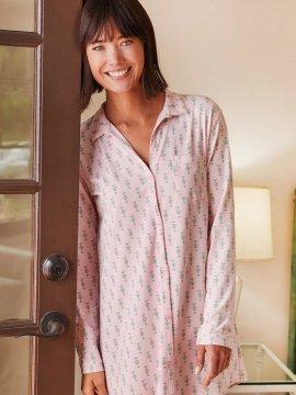 The Cat's Pajamas Women's Taos Pima Knit Classic Nightshirt