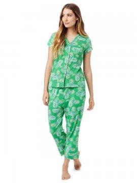 The Cat's Pajamas Women's Tinsley Pima Knit Capri Pajama Set