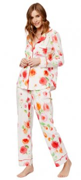The Cat's Pajamas Women's Tossed Roses Pima Knit Pajama Set
