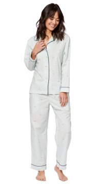 The Cat's Pajamas Women's Tour de France Luxe Pima Cotton Pajama Set