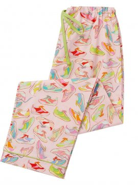 The Cat's Pajamas Women's Trainers Poplin Pajama Pant in Pink