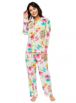 The Cat's Pajamas Women's Tropicana Luxe Pima Classic Pajama Set