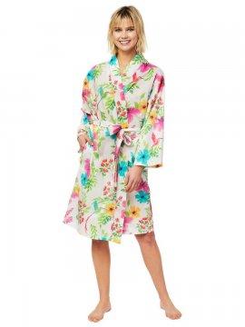 The Cat's Pajamas Women's Tropicana Luxe Pima Robe
